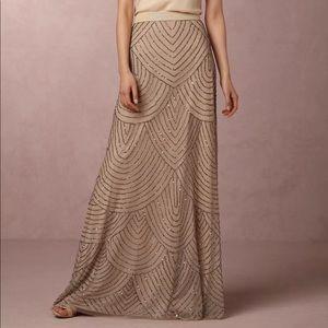Anthropologie Adrianna Papell Maxi Beaded Skirt 6
